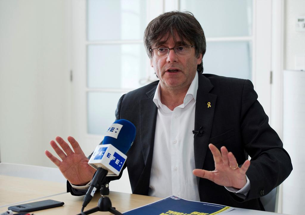 Carles Puigdemont, in an interview from his residence in Waterloo ...