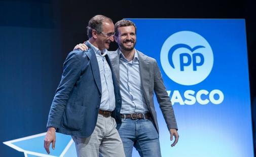 Pablo Casado llama al PP vasco a protagonizar la unin del