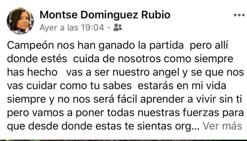 Mother's Facebook Post