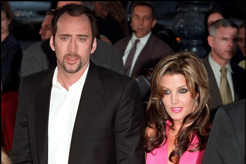 Nicolas Cage junto a Lisa Marie Presley