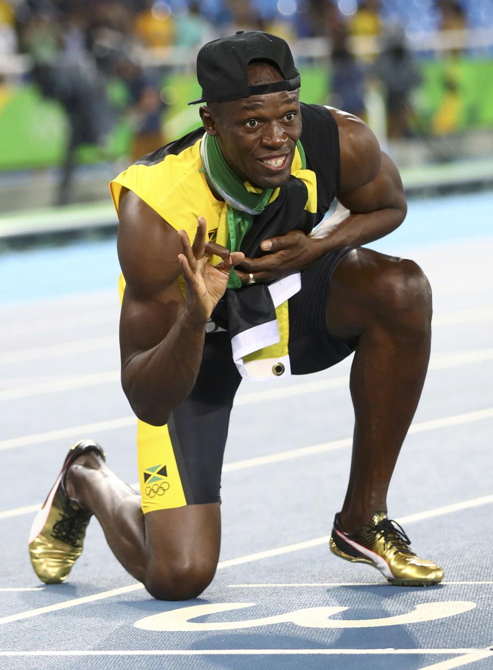 Usain Bolt tras ganar el 4x100, su tercer oro en Río 2016