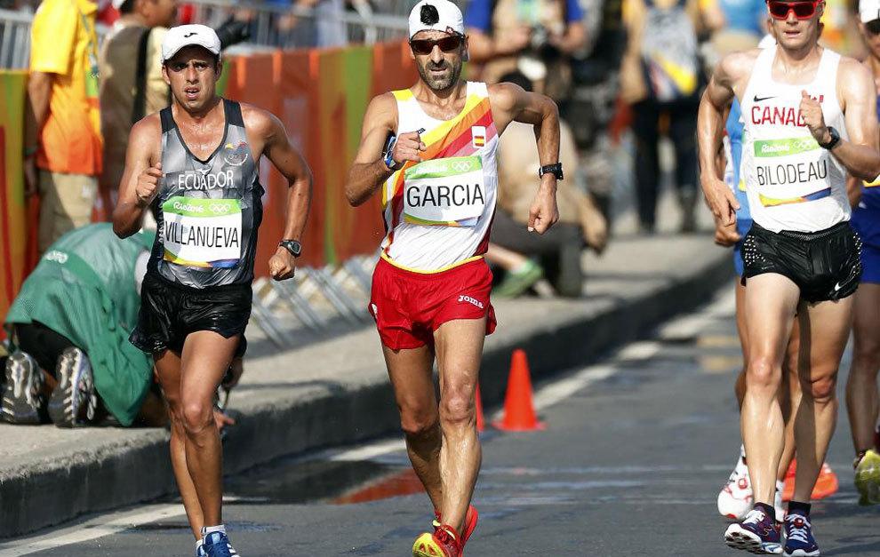 García Bragado durante los 50 kilómetros marcha en Río