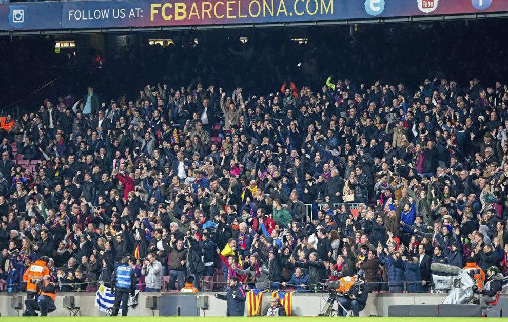 Imagen del graderío del Camp Nou durante un Barça-Atlético.