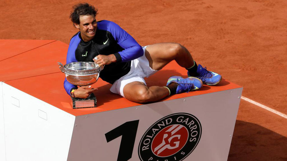 Rafa Nadal, tras conquistar su décimo Roland Garros