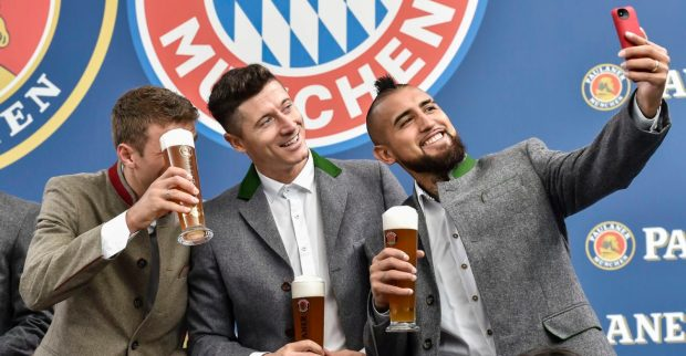 Thomas Muller, Robert Lewandowski and Arturo Vidal.