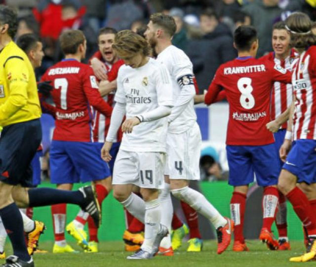 Laliga Real Madrid Vs Atletico Madrid The Last League Derby