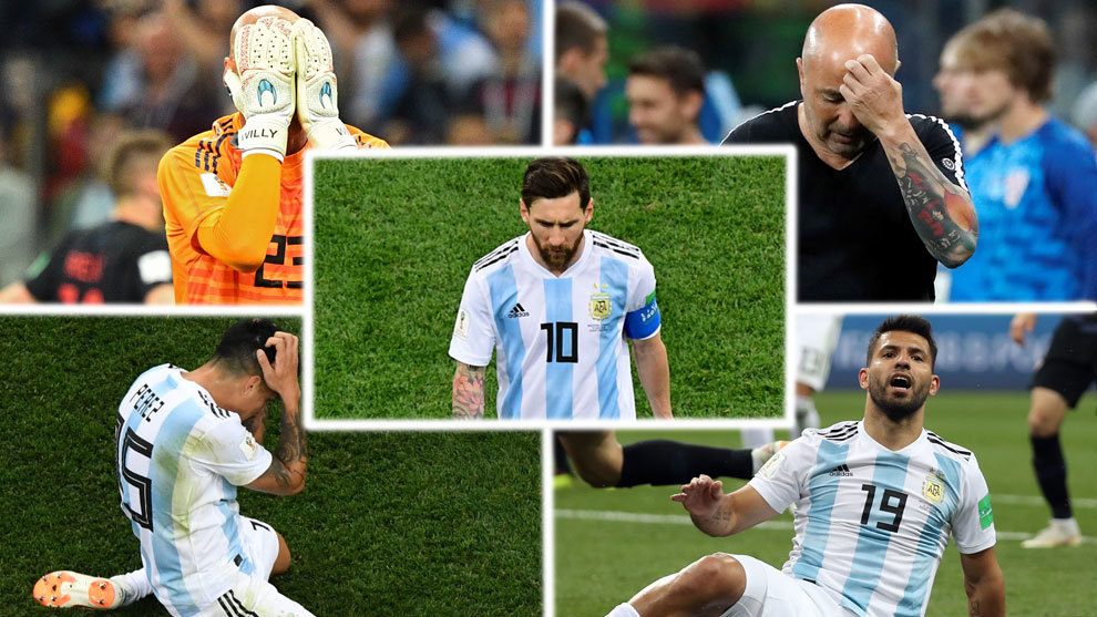 Messi, Caballero, Sampaoli... All a part of the Argentine disaster