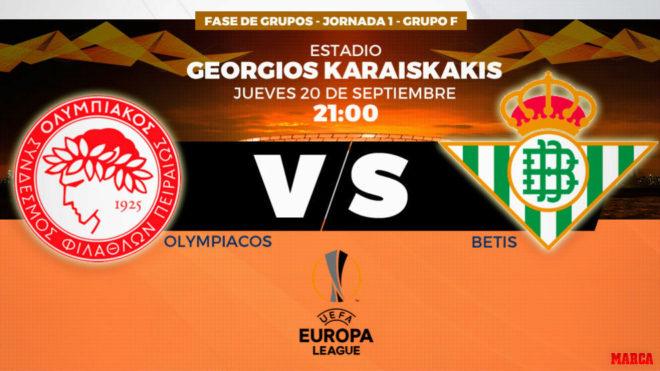 Europa League Olympiacos Vs Betis Horario, Canal Y Dónde