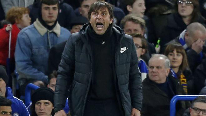 Antonio Conte, durante un partido con el Chelsea.