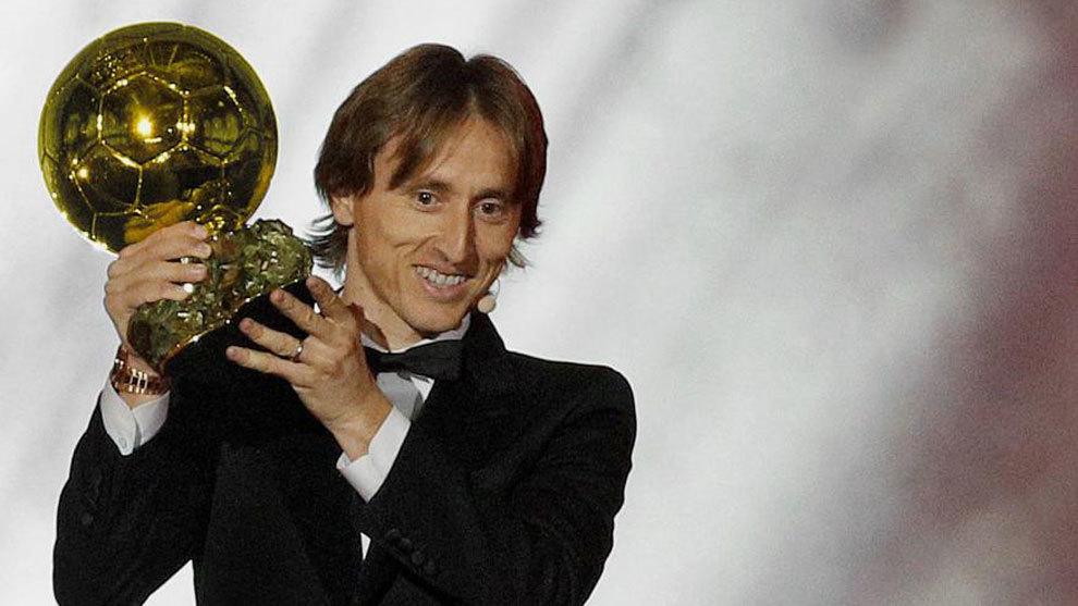 Modric won the 2018 Ballon d'Or award
