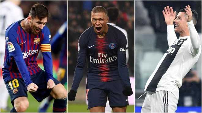 messi mbappe and cristiano
