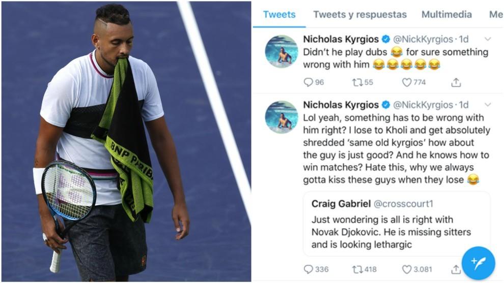 Miami Open 2019: Kyrgios se mofa del aparente malestar de Djokovic ...