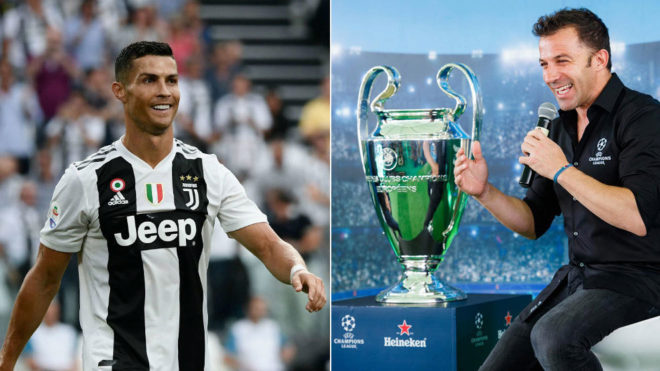 Cristiano Ronaldo and Del Piero are famous for their free-kicks.