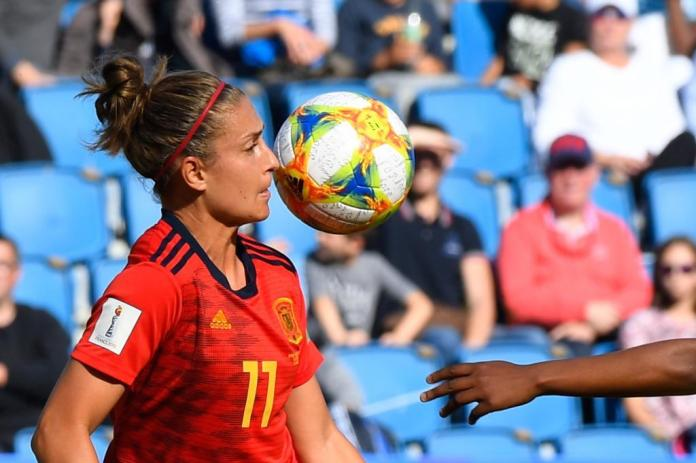 Alexia Putellas during a World cup game of France.