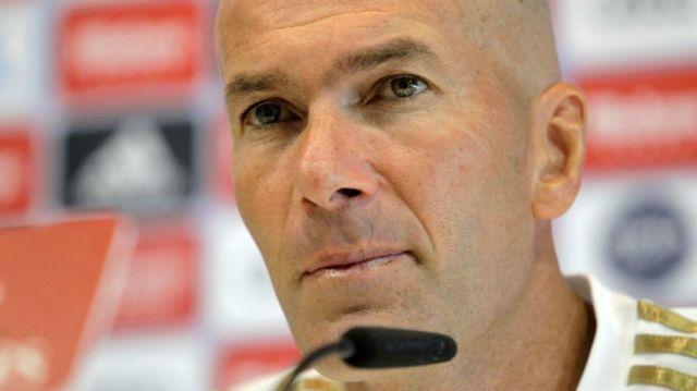 Zinedine Zidane in a press conference.