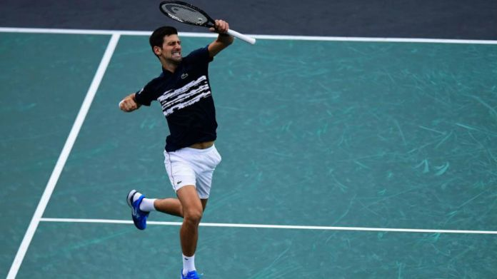 Djokovic takes a leap of joy