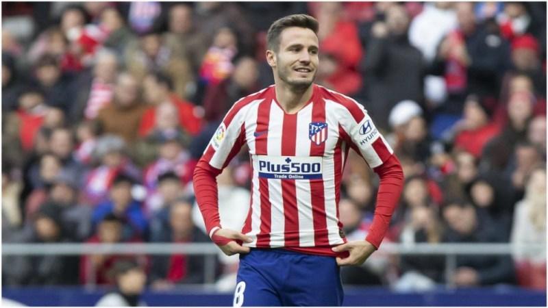 Saúl durante el encuentro contra el Espanyol