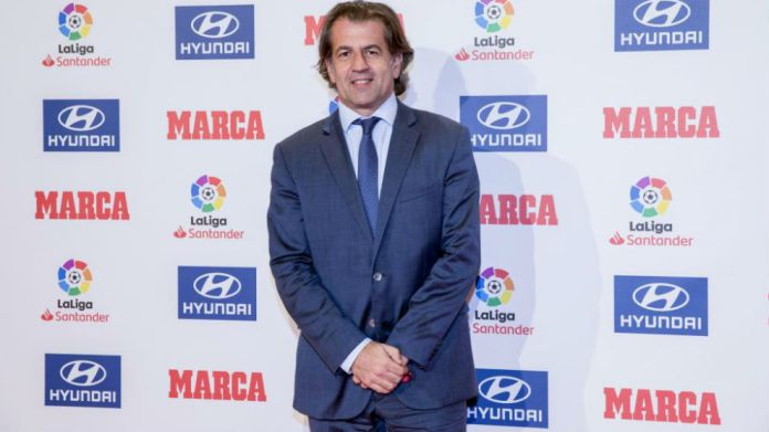 Freixa, in the delivery of the MARCA awards.