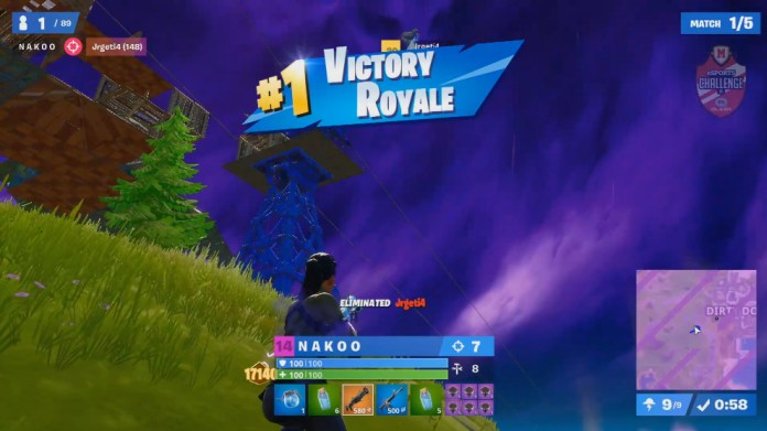 NAKOO to win the first game of the final of the tournament Fortnite of...