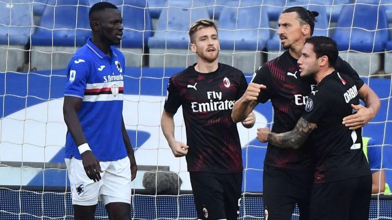 Sampdoria vs Milan Ibrahimovic, con un doblete, hace que el Milan 'triture'  a la Sampdoria - Serie A: