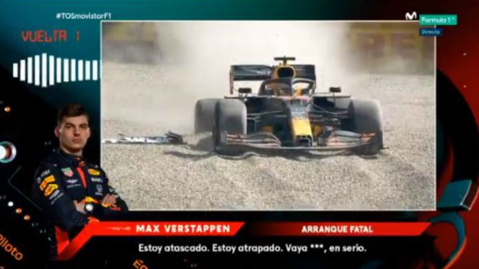 Verstappen descarga toda su frustración por radio.