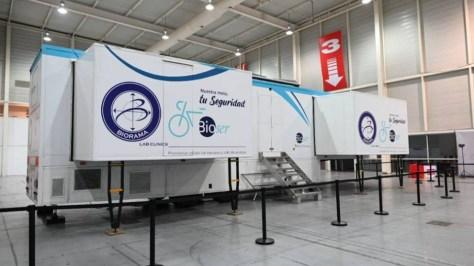 El laboratorio móvil de La Vuelta donde se han realizado las pruebas...
