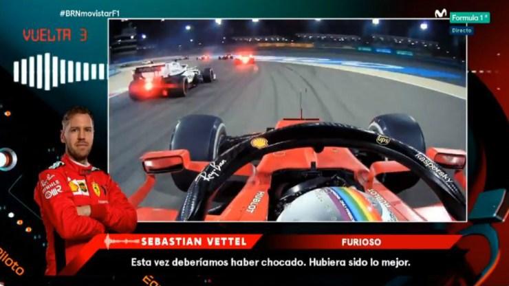 Vettel desata su ira por radio.