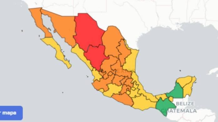 mexico coronavirus map dec 1