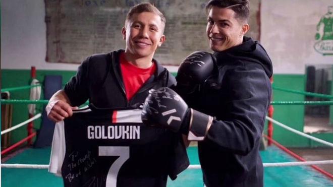 Gennady Golovkin dhe Cristiano Ronaldo.