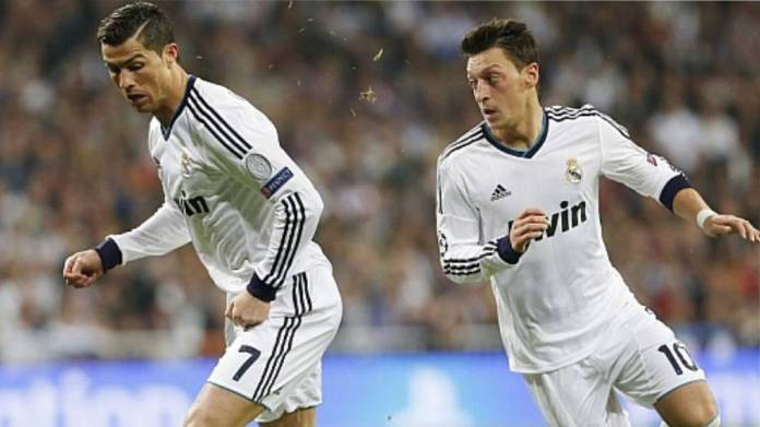 Cristiano Ronaldo y Mesut