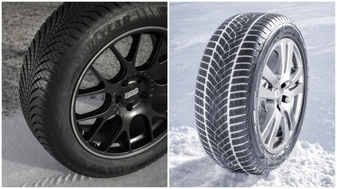 Goodyear Vector 4 Seasons (todo tiempo) y Goodyear Ultra Grip Performance (de invierno).