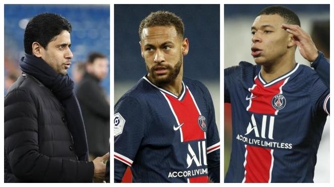 Al-Khelaifi, Neymar dhe Mbappe