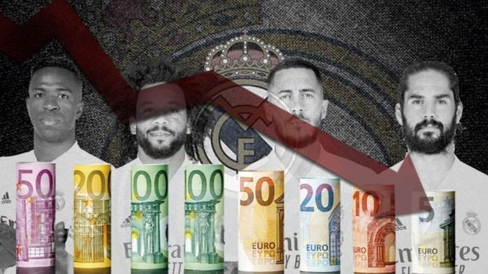 Vlera e skuadrës së Real Madrid & apos; bie