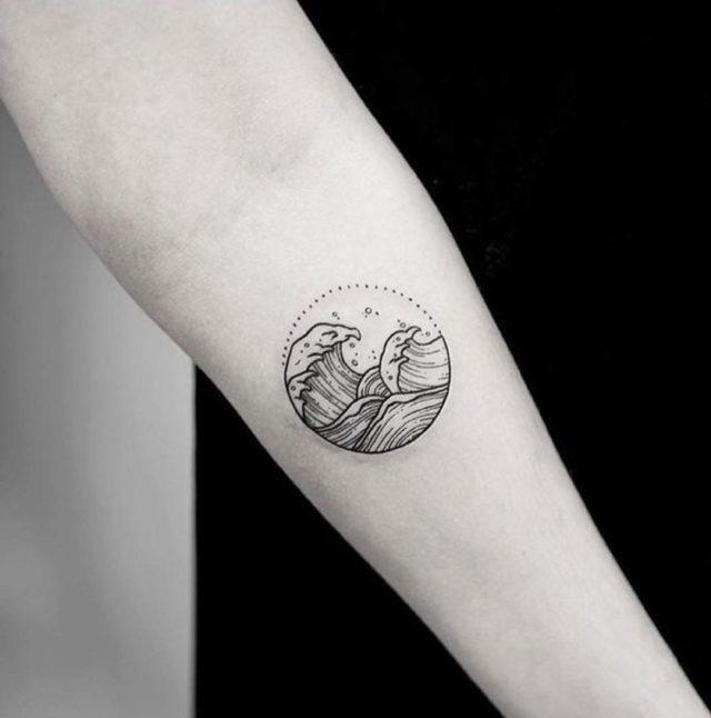 La Gran Ola De Kanagawa Tatuajes Minimalistas Que Te