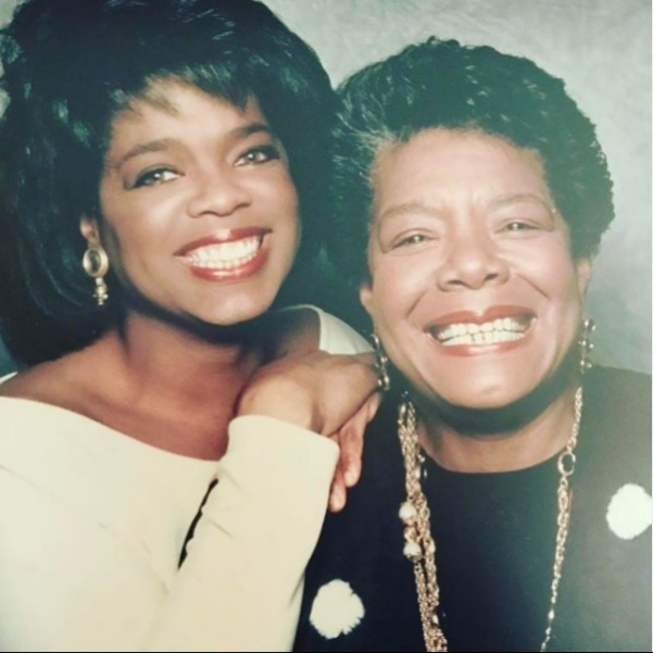 Oprah with her mother.