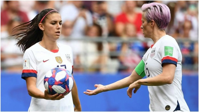 Alex Morgan and Megan Rapione at the time of the decision of the