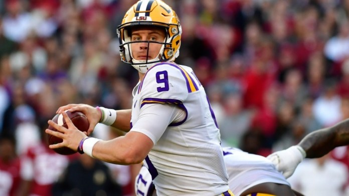Joe Burrow during the game against Alabama.