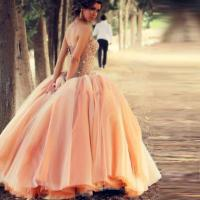 New 2016 Charming Peach Color Cheap Quinceanera Dresses ...