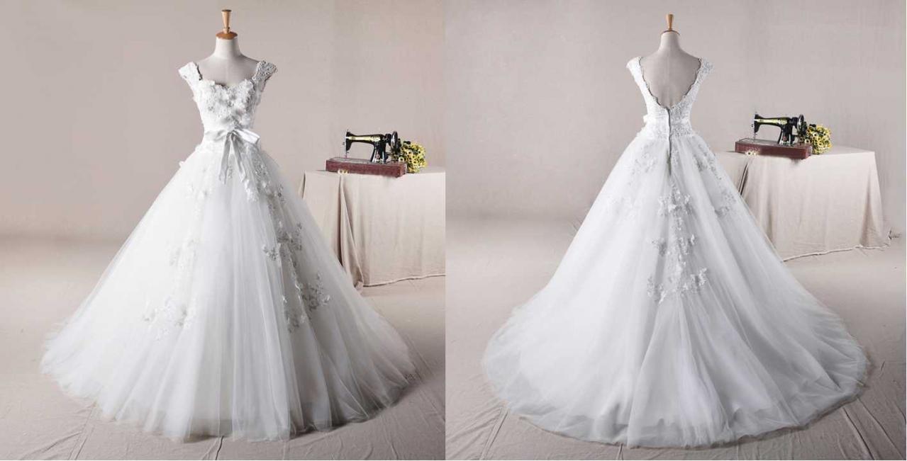 STRAPS BALL GOWN NET CHARMING WEDDING Wedding Dress