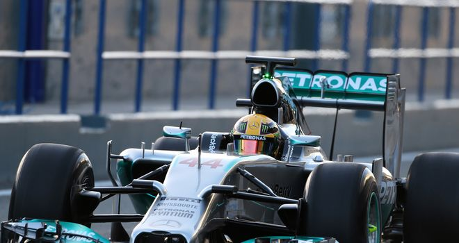 Lewis hamilton and nico rosberg have revealed the 2014 mercedes the