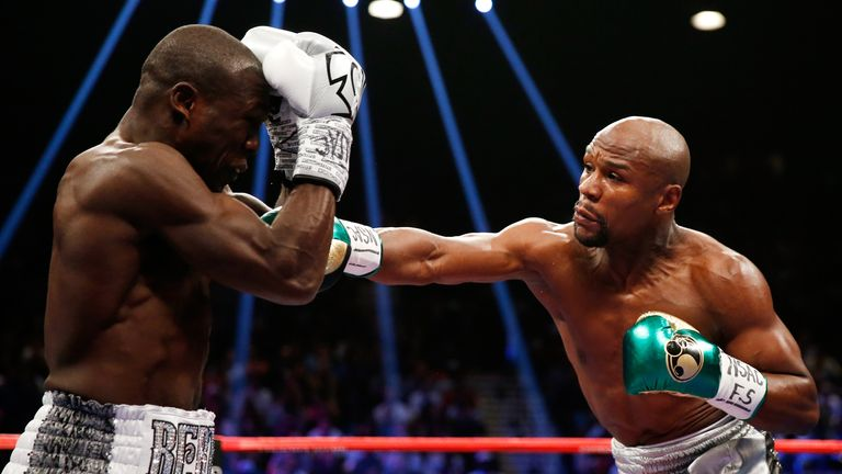 Mayweather was occasionally forced out of his shell