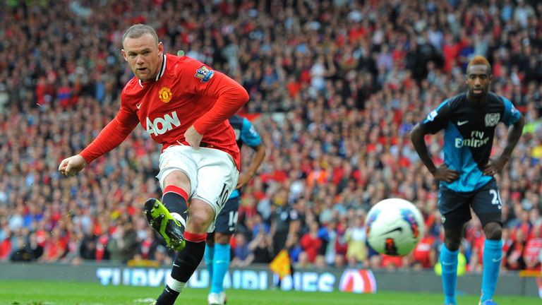 Wayne Rooney has scored six home goals against Arsenal