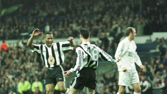 """Gillespie was part of Newcastle's """"Entertainers"""" team from the mid 1990s"""