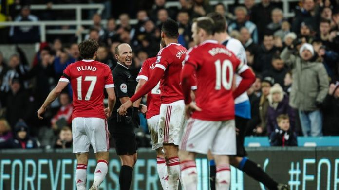 Referees have been asked to clamp down on situations when players contest their decisions