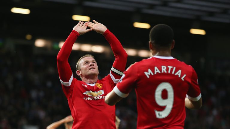Wayne Rooney scored in Manchester United's 3-1 win over Bournemouth