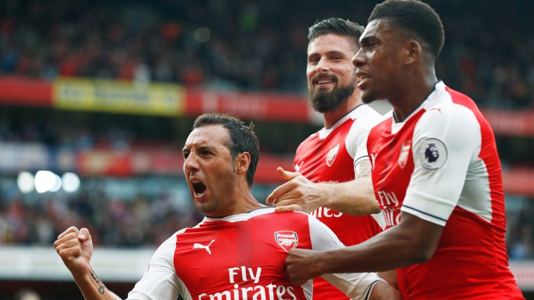 Cazorla has scored two goals in the Premier League this season
