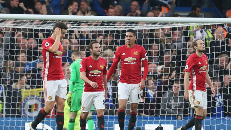 Man Utd suffered a 4-0 defeat against Chelsea on Sunday