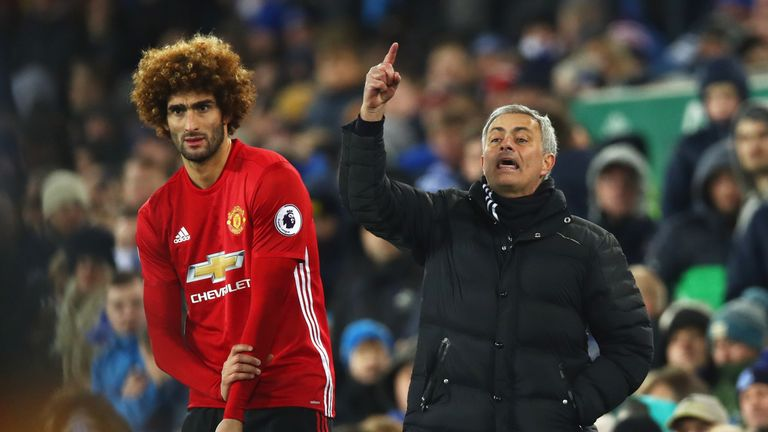 Jose Mourinho dedicated Sunday's victory at Old Trafford to Marouane Fellaini