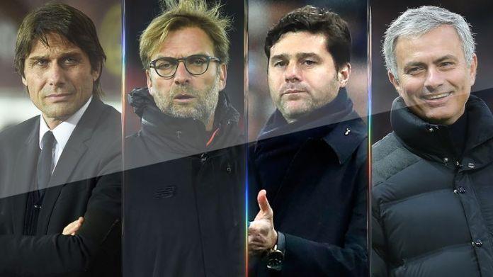 Antonio Conte, Jurgen Klopp, Mauricio Pochettino and Jose Mourinho have European commitments in 2017/18