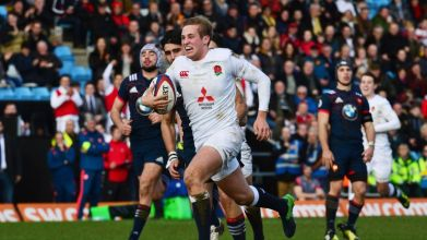 Saracens fly-half Max Malins scored 24 points against France